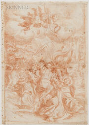 Italian School, 16th/17th Century      Martyrdom of a Saint, Possibly Peter Martyr