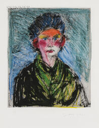 Jim Dine (American, b. 1935)      Nancy Outside in July XVIII: Full of Expression