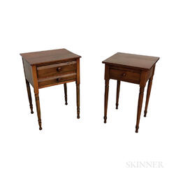 Two Country One- and Two-drawer Stands.     Estimate $150-200