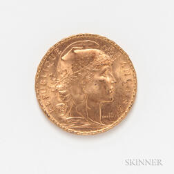 1912 French 20 Francs Gold Coin