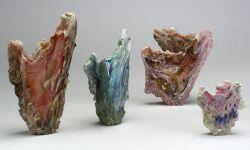 Four John Kuhn Art Glass Vessels