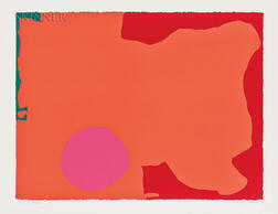 Patrick Heron (British, 1920-1999)      Magenta Disk, Red Edge