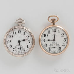 "Hamilton ""992"" and Dueber Hampden No. 120 Open-face Watches"