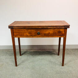 Federal Birch One-drawer Card Table