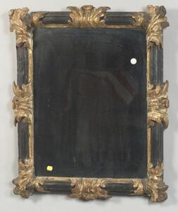 Continental Ebonized and Parcel-gilt Mirror