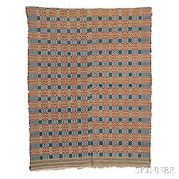 Four-color Overshot Coverlet