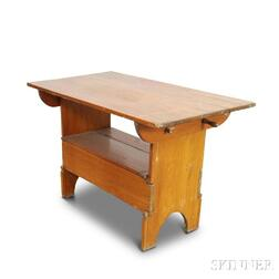 Pine Rectangular-top Hutch Table