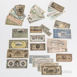 Small Group of Central and South American Paper Money