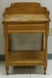 Late Federal Tiger Maple Washstand.