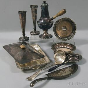 Small Group of Silver-plated Tableware