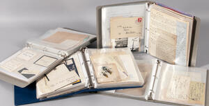 Autographs, Signatures, Signed Material, Large Collection of Five Boxes.