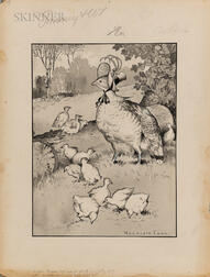 Harrison Cady (American, 1877-1970), Three Illustrations from Tommy and the Wishing Stone: Mother Goose had only to speak; With Peter,