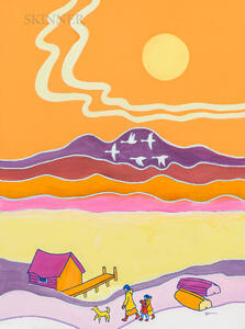 Ted Harrison (British/Canadian, 1926-2015)      Flying South