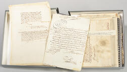 Signatures, Approximately Forty Signed Documents and Correspondence from France and Italy, 15th-18th Century.