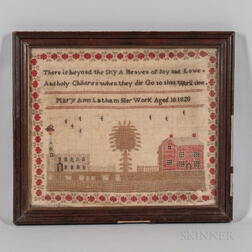 """Mary Ann Latham"" Needlework Sampler"