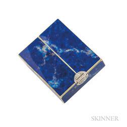 Art Deco 14kt Gold, Enamel, and Diamond Compact
