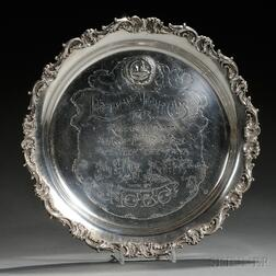 Whiting Sterling Silver Larchmont Yacht Club Trophy Tray