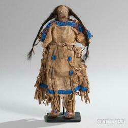 Sioux Beaded Hide Doll