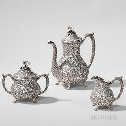 Three-piece Baltimore Silver Co. Sterling Silver Coffee Service