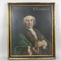 French School, 18th Century Style    Portrait of Bernard Fontenelle (French, 1657-1757)