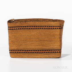 Northwest Coast Twined Rectangular Basket