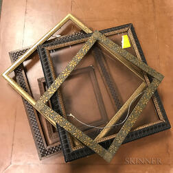 Group of Carved and Gilt Picture Frames.     Estimate $100-150