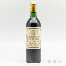 Chateau Pichon Lalande 1982, 1 bottle