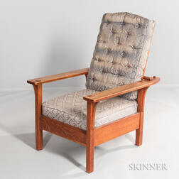L. & J.G. Stickley Arts and Crafts Morris Chair