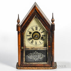 Miniature Time and Alarm Steeple Clock