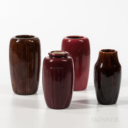 Four Hampshire Art Pottery Vases