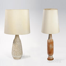Two Mid-century Pottery Table Lamps