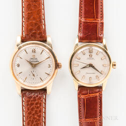 Two Omega Seamaster Automatic Wristwatches