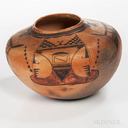 Large Hopi Polychrome Pottery Jar