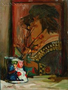 Robert Henry Logan (American, 1874-1942)    Lot of Two: Still Life with Toby Jug and Lamp on a Table