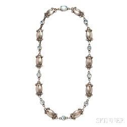 Sterling Silver and Moonstone Necklace, Georg Jensen