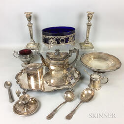 Group of Silver-plated Tableware.     Estimate $20-200