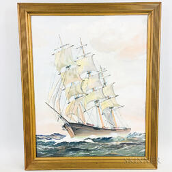 American School, 20th Century    Portrait of a Sailing Vessel