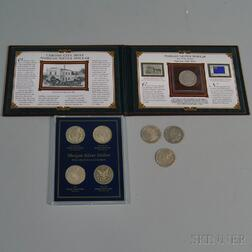 Eight United States Morgan Silver Dollar Coins