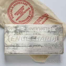 Engelhard 8th Series 100 Troy oz. Silver Bar