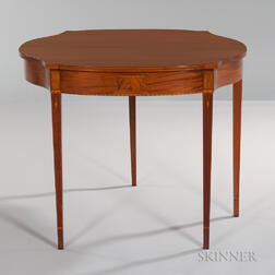 Inlaid Mahogany Card Table