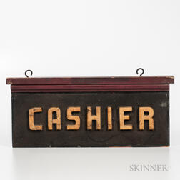 "Double-sided ""Cashier"" Sign"