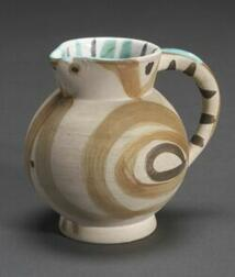 After Pablo Picasso (Spanish, 1881-1973)  Small Wood Owl Pitcher.