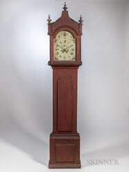 Painted Tall Case Clock