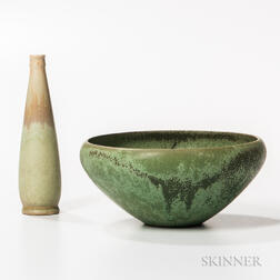 Clifton Art Pottery Bowl and Small Vase
