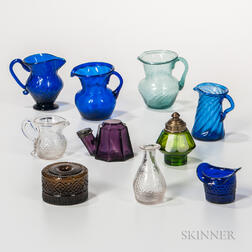 Group of Small Blown and Molded Glass Objects