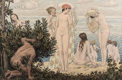 Bryson Burroughs (American, 1869-1934)      The Bathers