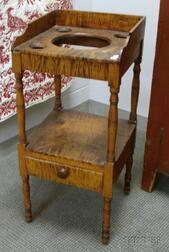 Federal Tiger Maple Washstand.