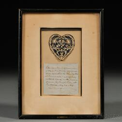 Martha Anne Hunnewell Cutwork Heart