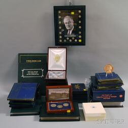 Large Group of Boxed and Partial Sets of U.S. Coins, Stamps, and Bills
