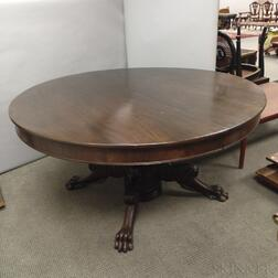 Renaissance Revival Carved Mahogany Dinner Table with Two Leaves